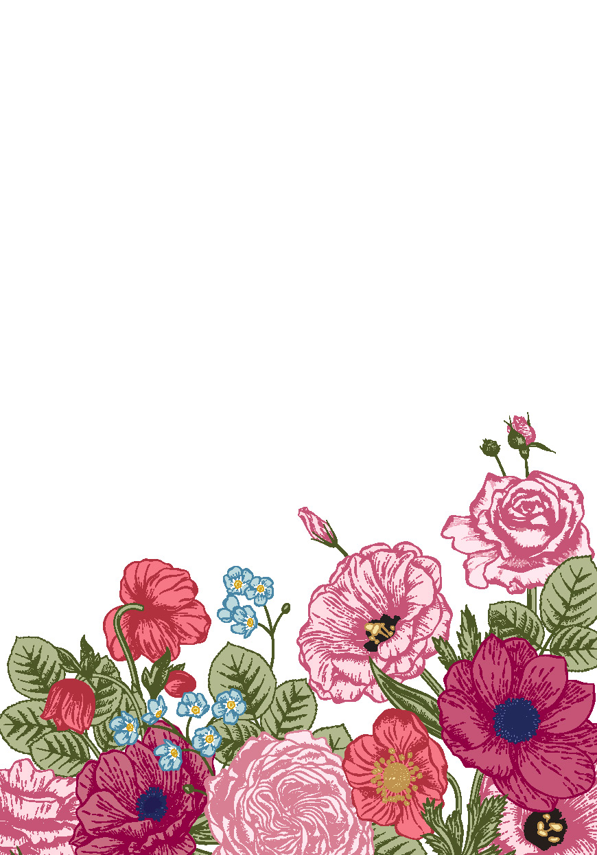 !WoY - FLORAL_pink blank